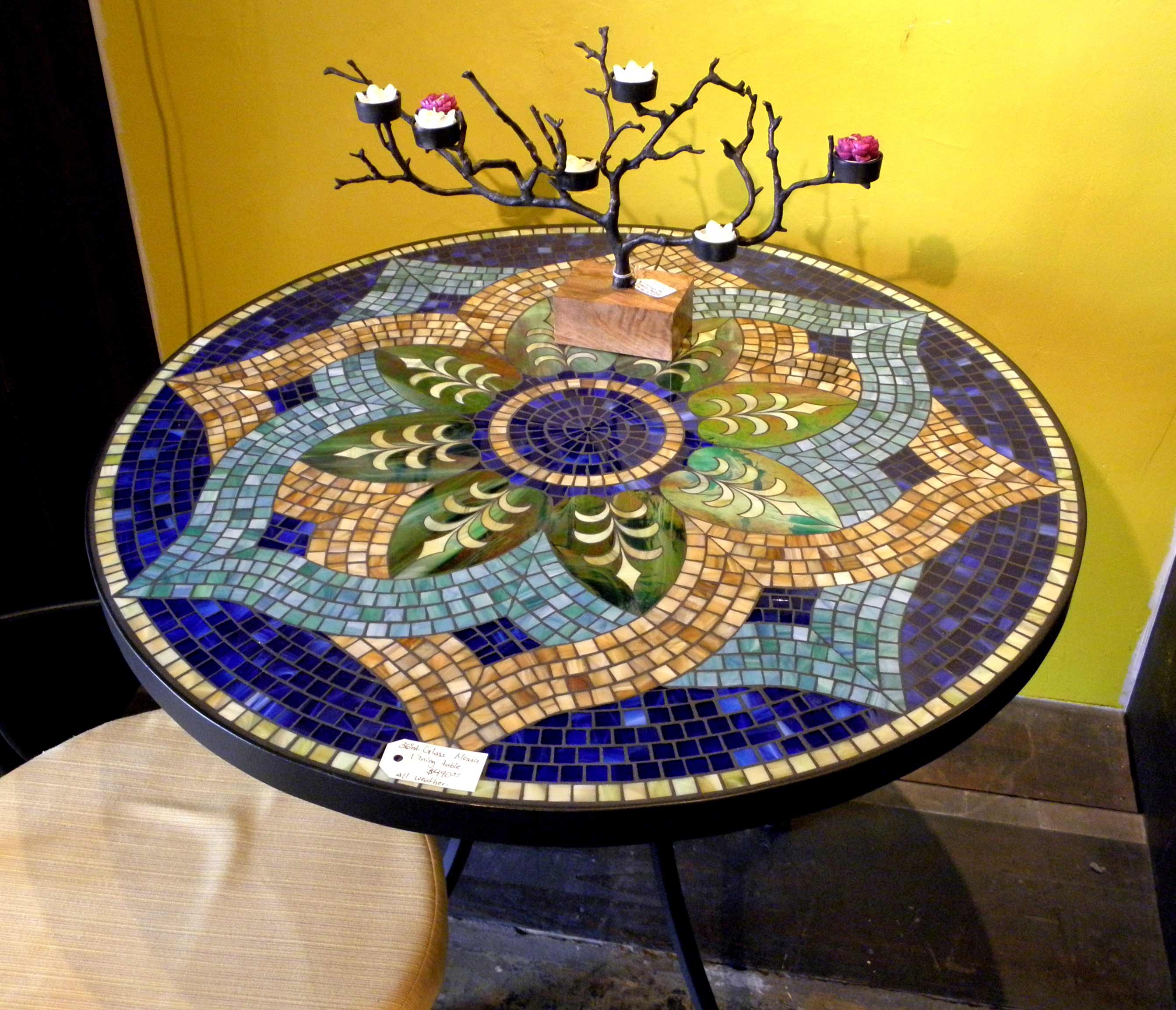 Round Mosaic Tile Patterns: MOSAIC FURNITURE & BASINS On Pinterest