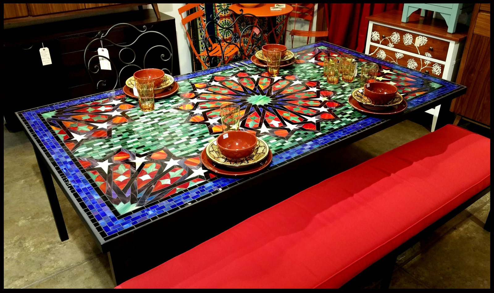 Mosaic Tables On Pinterest Table Tops Mosaics