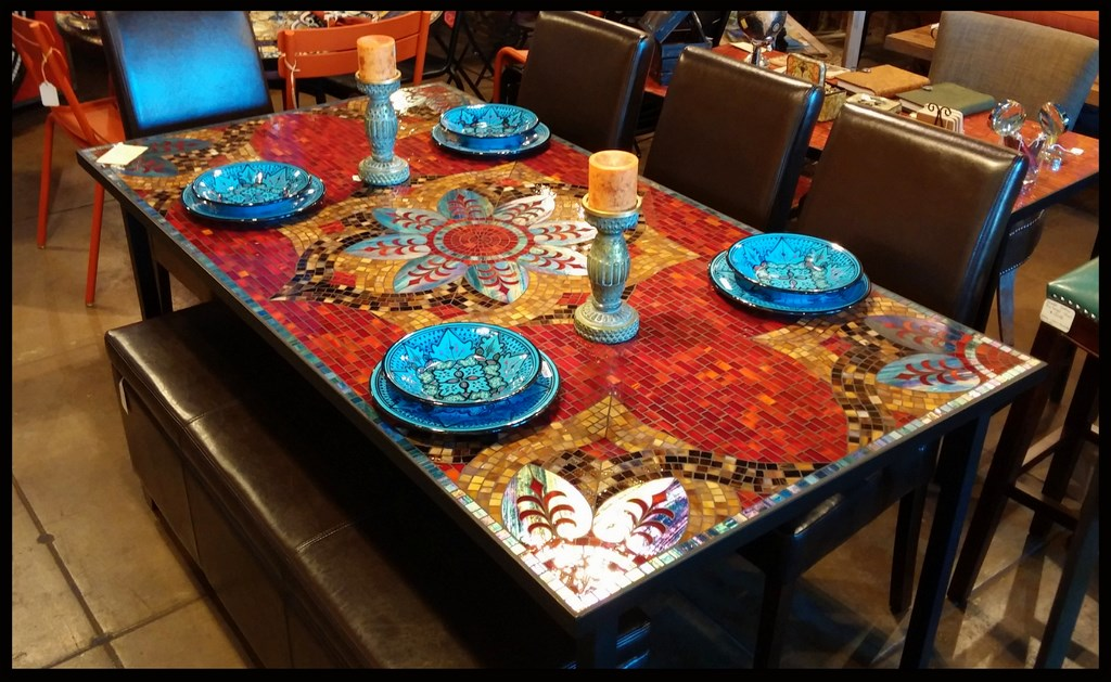 tile kitchen tables furthur mosaic dining tables 2767