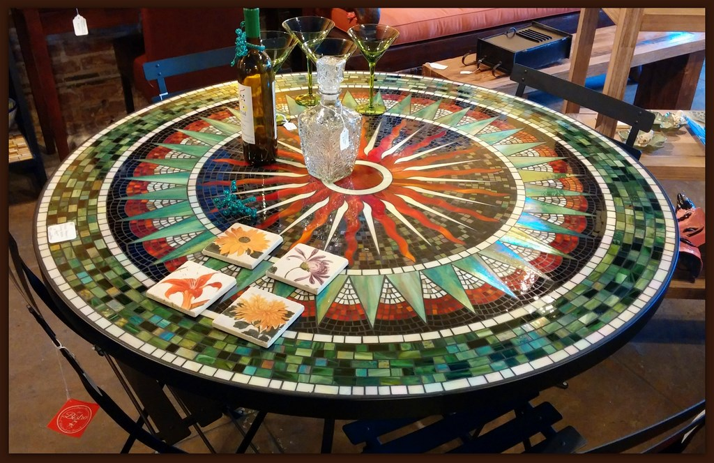 Garden Furniture Mosaic Table Set Castrophotos