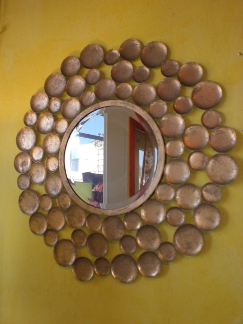 Punched Tin Floor Mirror